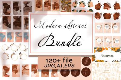 Modern abstract bundle