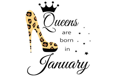 January birthday Queen  svg, Living My Best Life, January   Queen, Jan