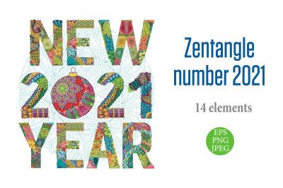 Decorative numbers 2021