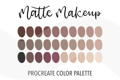 Matte makeup color palette for Procreate. 30 Swatches