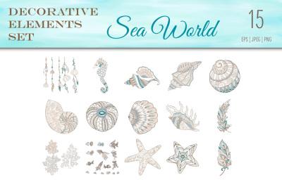15 sea world elements