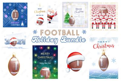 American Football. Big Bundle of Christmas Sports Greeting Cards.