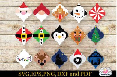 Christmas Ornament Tile, Ornament SVG, Arabesque Tile SVG