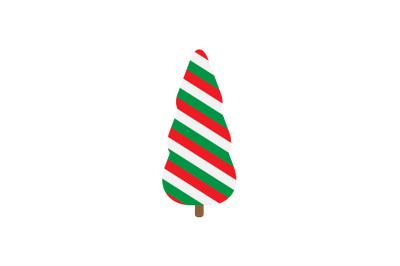 Trhee Stripes Pine Christmas Icon