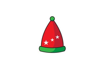 Three Star Santa Hat Christmas Icon