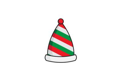 Stripes Santa Hat Christmas Icon