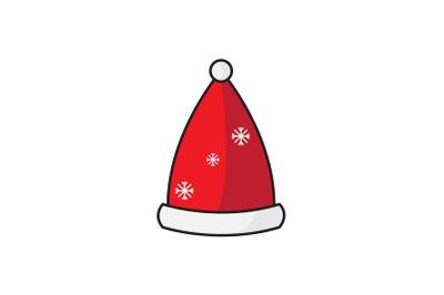 Snow Pattern Santa Hat Christmas Icon