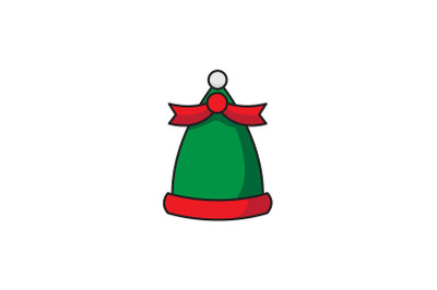 Elf Hat With Ribbon Christmas Icon