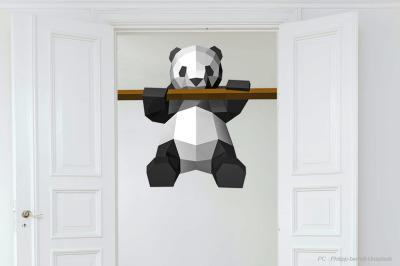 DIY Panda Sculpture - 3d papercraft