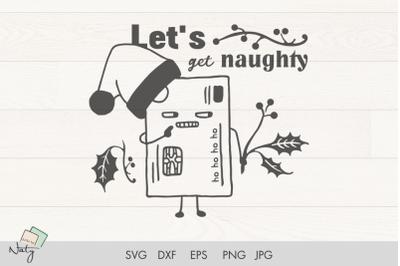 Christmas funny credit card illustration.