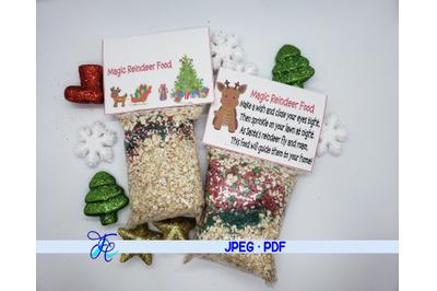 Magic Reindeer Food Label