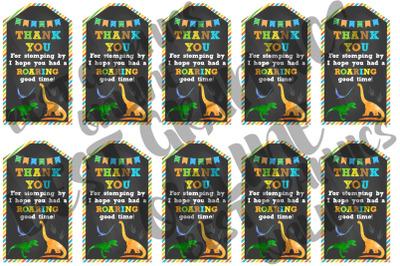 Dinosaur Printable Party Favor Tags