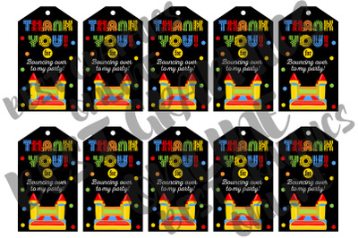Bounce & Jump Birthday Party Gift Tags