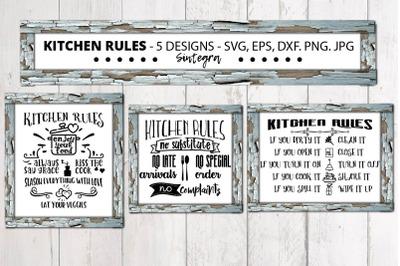 Kitchen Rules Bundle Svg