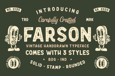 Farson - Vintage Typeface