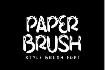 Paper Brush - Stylish Brush Font