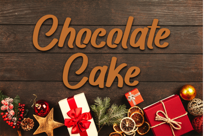 Chocolate Cake - Beautiful Script Font