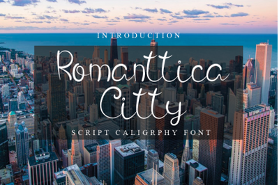Romanttica City - Script Calligraphy Font
