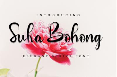 Suka Bohong - Modern Script Font