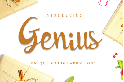 Genius - Unique Calligraphy Font