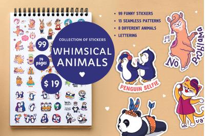 Big set of animal stickers