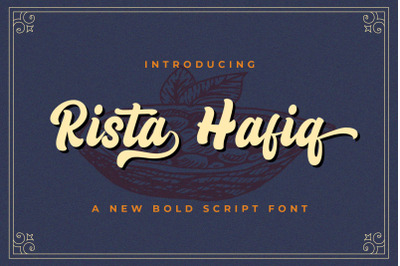 Rizta Hafiq - Retro Bold Script Font