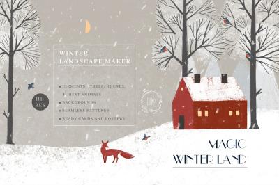 Magic Winter Land. Landscape maker.