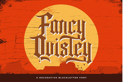 Fancy Quisley - Blackletter Font