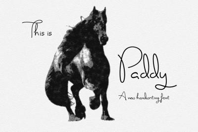 Paddy Font - handwriting font