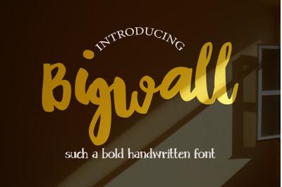 Bigwall  A Bold Handwritten Script