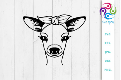 Gorgeous Deer with Bandana SVG File