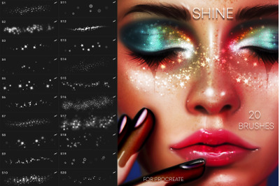 20 Face Shine Brushes for Procreate