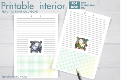 Cute KDP notebook for knitting projects.