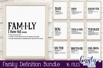 Family Definition SVG, Family SVG Bundle, Funny Family SVG