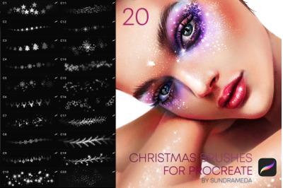Christmas Makeup Brushes Procreate