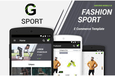 G-Sport | Fashion Ecommerce UI Kit