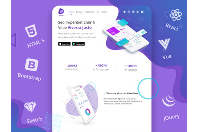 Mobilux - Mobile Apps Landing Page