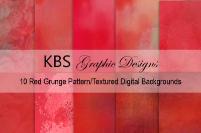 Red Grunge Pattern/Textured Digital Backgrounds
