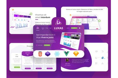 Luxas - App Landing Page SaaS
