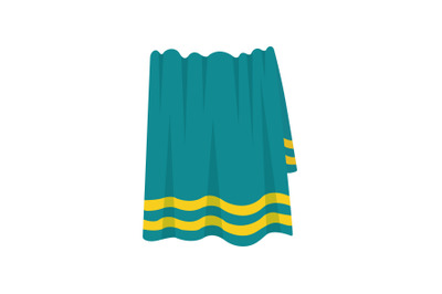 Towel Beach Vector Illustration