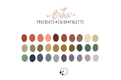 Procreate palette boho