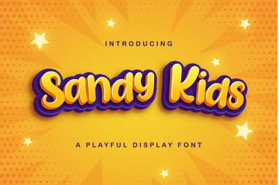 Sandy Kids - Playful Display Font