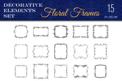 15 floral frames
