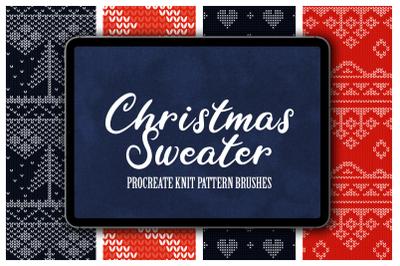 Christmas Sweater Procreate Patterns
