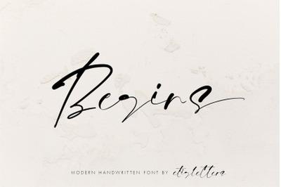 Begins - Modern Handwritten Font