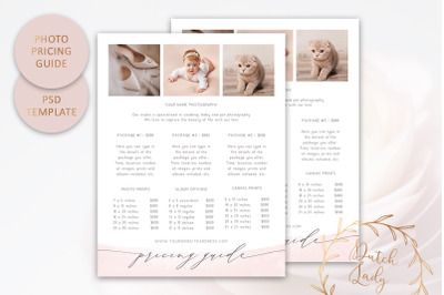 PSD Photography Pricing Guide #12