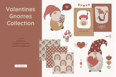 Valentines gnomes collection