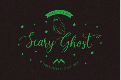 Scary Ghost | Halloween Font Duo