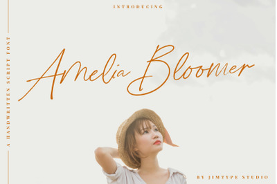 Amelia Bloomer | Handwritten Script