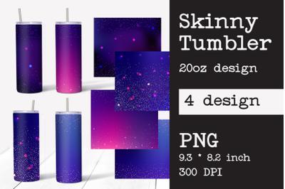 Skinny Tumbler. Tumbler Sublimation. Galaxy Design.